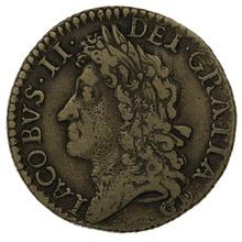 1689 December Irish James II Gunmoney Shilling