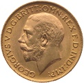 1921 Gold Sovereign - King George V - M