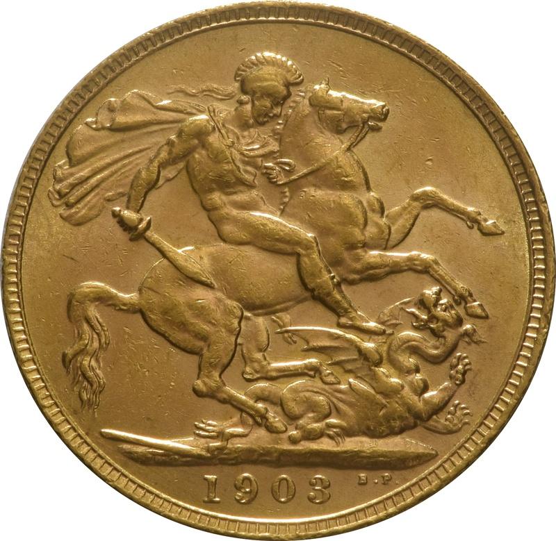 1903 Gold Sovereign - King Edward VII - London