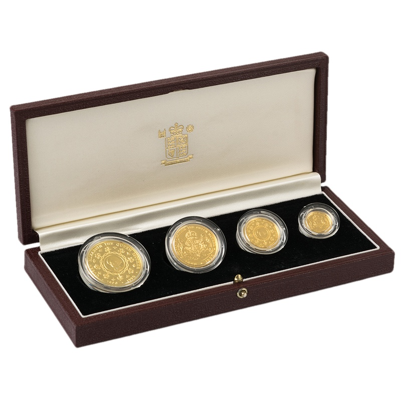1990 Falkland Islands Elizabeth The Queen Mother 90th Birthday Gold Proof Set Boxed