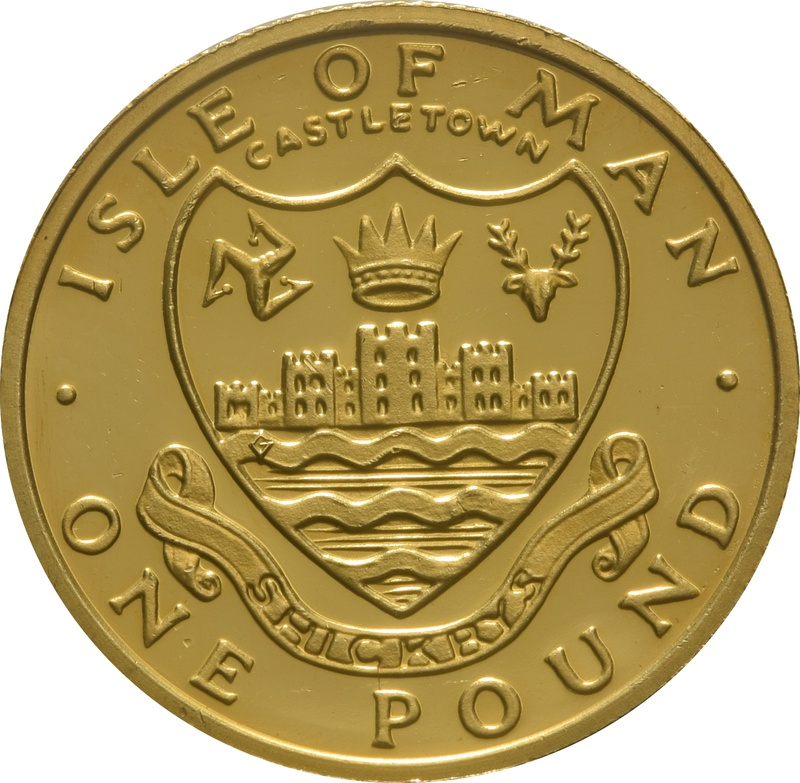 1984 Gold Proof £1 One Pound Manx Town Series - Castletown