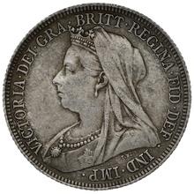 1896 Queen Victoria Silver Shilling