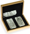 Large Oak Gift Box - 2 x Metalor 1kg Gold or Silver Bars