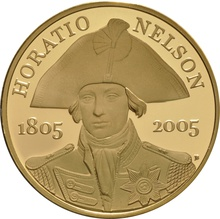 2005 - Gold £5 Proof Crown, Horatio Nelson Boxed
