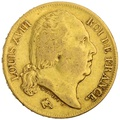 1817 20 French Francs - Louis XVIII Bare Head - A