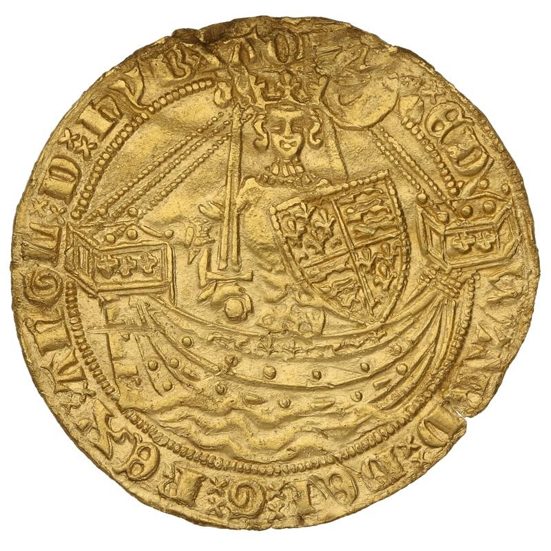 1361-69 Edward III Gold Half Noble London Mint