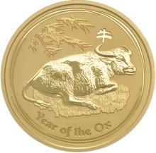 2oz Gold Australian Lunar Year of the Ox 2009