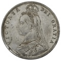 1887 Queen Victoria Silver Milled Halfcrown - Uncirculated