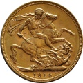 1914 Gold Sovereign - King George V - M