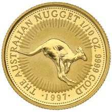 1997 Tenth Ounce Gold Australian Nugget