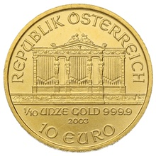 2003 Tenth Ounce Gold Austrian Philharmonic