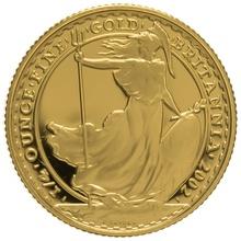 2002 Quarter Ounce Proof Britannia Gold Coin NGC PF70