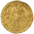 1361-69 Edward III Gold Half Noble Calais Mint