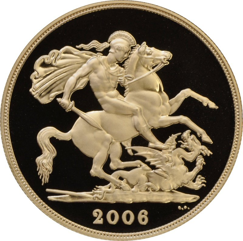 2006 £2 Two Pound Proof Gold Coin (Double Sovereign)