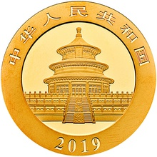 2019 1g Gold Chinese Panda Coin