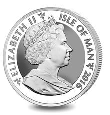 2016 Silver 1oz Isle of Man Angel reverse proof