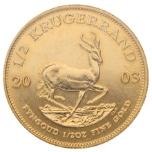 2003 Half Ounce Krugerrand Gold Coin