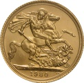 1980 Gold Sovereign - Elizabeth II Decimal Portrait