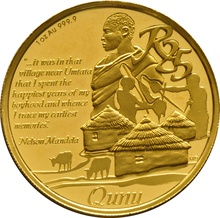 2013 Protea One Ounce gold Coin Nelson Mandela