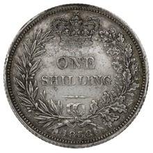 1838 Victoria Silver Shilling A1