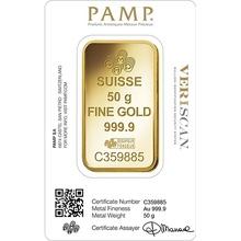 PAMP 50 Gram Gold Bar Gift Boxed
