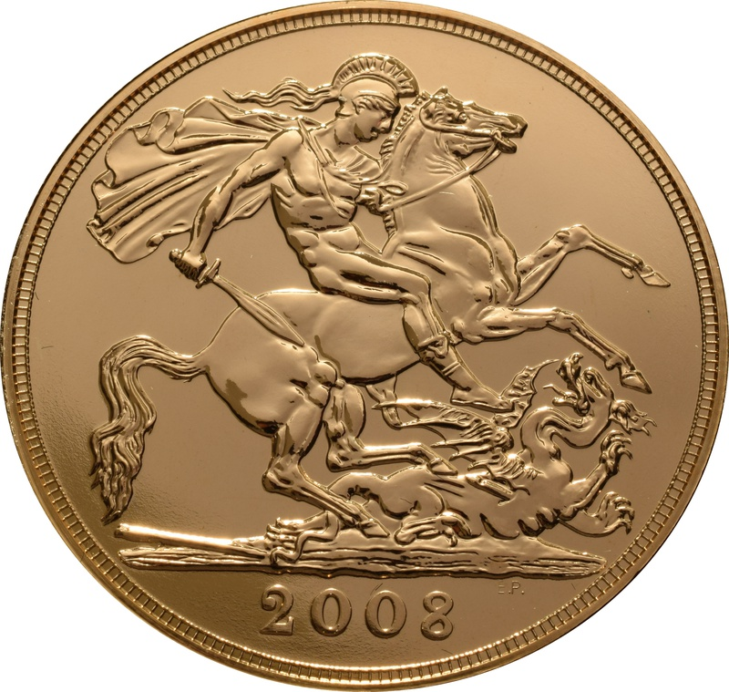 2008 £5 Gold Coin (Quintuple Sovereign)