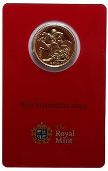 2014 Gold Sovereign - Elizabeth II Fourth Head - India