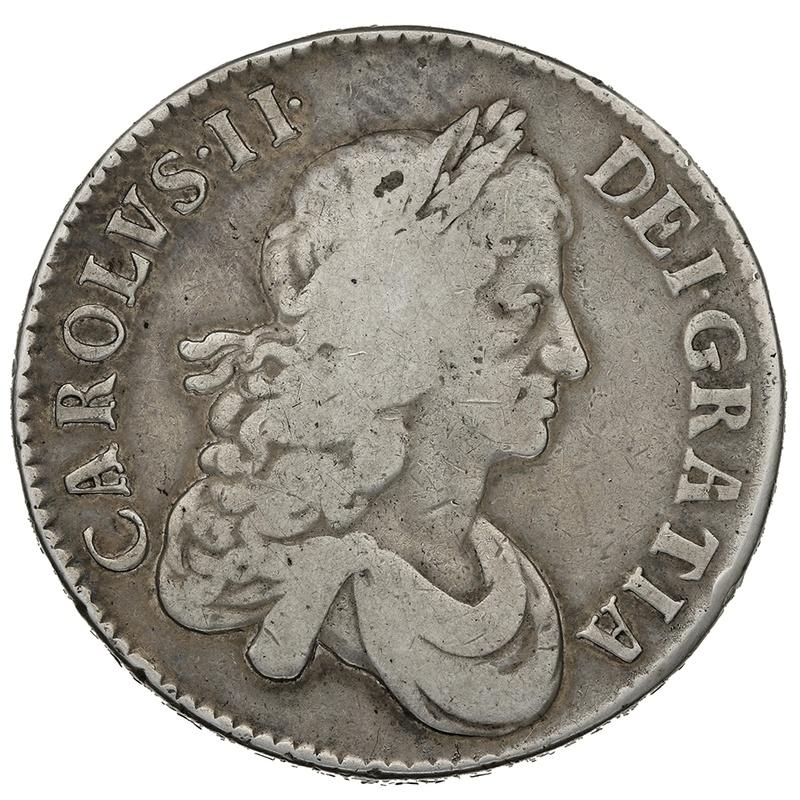 "1671 Charles II Silver Crown ""V.VERTIO"""