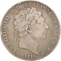 1819 George III Silver Crown - Fine