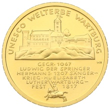 100 Euro 2011 UNESCO Welterbe Wartburg German Gold Proof Coin Boxed