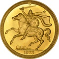 1973 - Gold £5 Coin (Quintuple Sovereign) Isle of Man