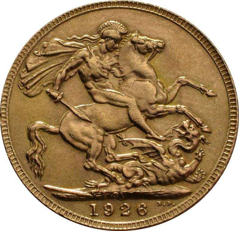 1926 Gold Sovereign - King George V - SA