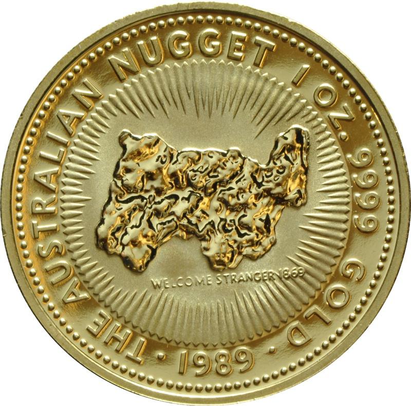 1989 1oz Gold Australian Nugget