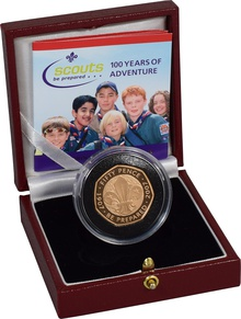 Gold Proof 2007 Fifty Pence Piece - Scouts Boxed