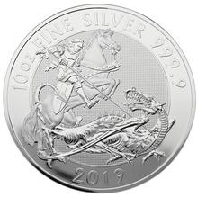 2019 Royal Mint Valiant 10oz Silver Coin