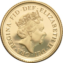 2016 Gold Half Sovereign Elizabeth II Fifth Head Proof