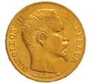 1855 20 French Francs - Napoleon III Bare Head - A