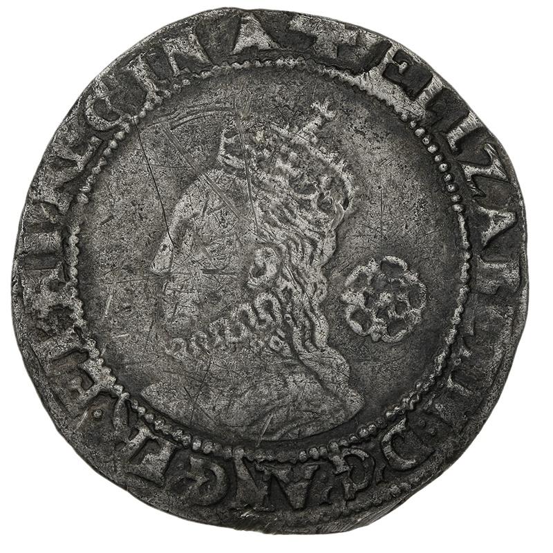1579 Elizabeth I Silver Sixpence mm Greek Cross