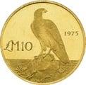 1975 Maltese Falcon £10 Gold Proof Coin