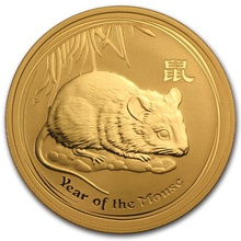 2008 Quarter Ounce Year of the Mouse Gold Coin