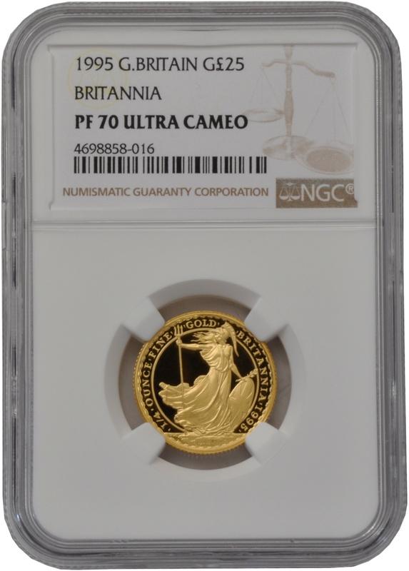 1995 Quarter Ounce Proof Britannia Gold Coin NGC PF70