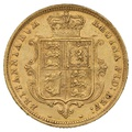 1883 Half Sovereign Victoria Young Head Shield Back - London