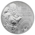 2019 Captain America 1oz Silver Coin