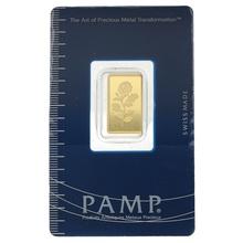 PAMP Rosa 2.5 Gram Gold Bar Minted Gift Boxed
