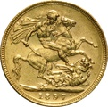 1897 Gold Sovereign - Victoria Old Head - S