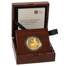 2017 Royal Mint 1oz Year of the Rooster Proof Gold Coin Boxed