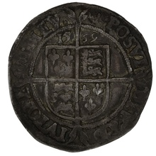 1569 Queen Elizabeth I Hammered Silver Sixpence - mm Coronet