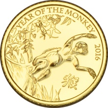 2016 Royal Mint 1/10th Oz Year of the Monkey Gold Coin