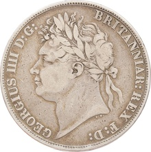 1821 George IV Silver Crown - Fine