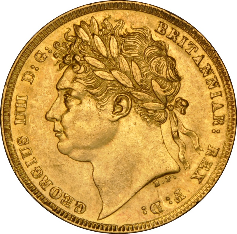 1824 Gold Sovereign - George IV Laureate Head